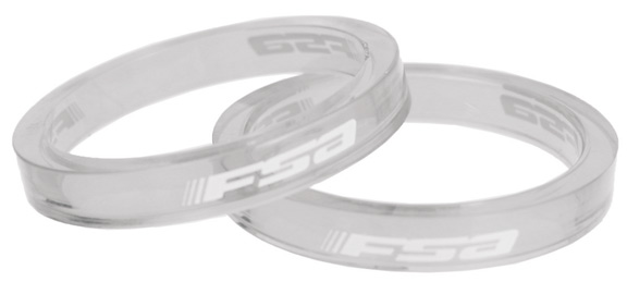 FSA Polycarbonate headset 5 mm spacer White Transparent - hlavové složení