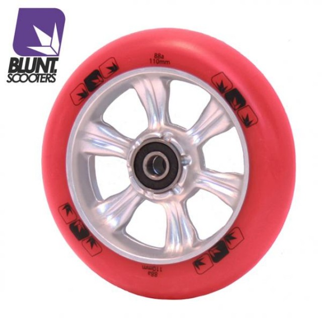Blunt 6 Spokes 110 mm + ABEC 9 bearings Red