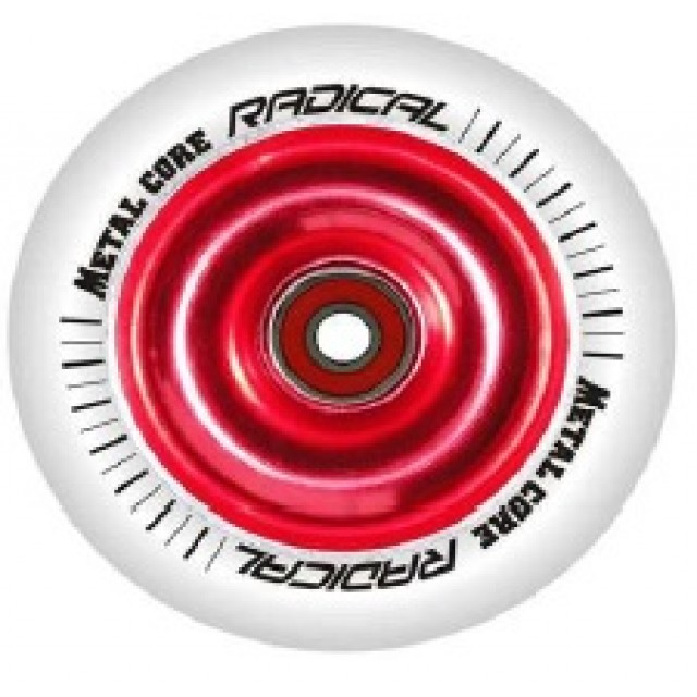 Metal Core Radical 110 mm Red/White incl. ABEC 7 bearings