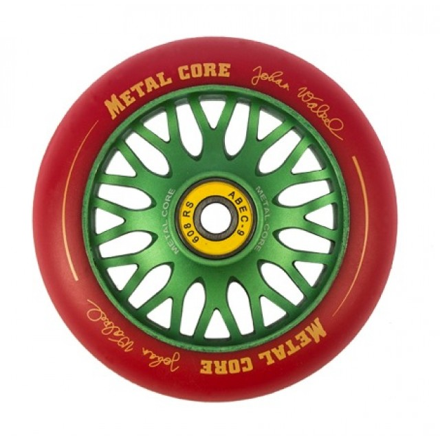 Metal Core Johan Walzel Wheel 110 mm Green Red
